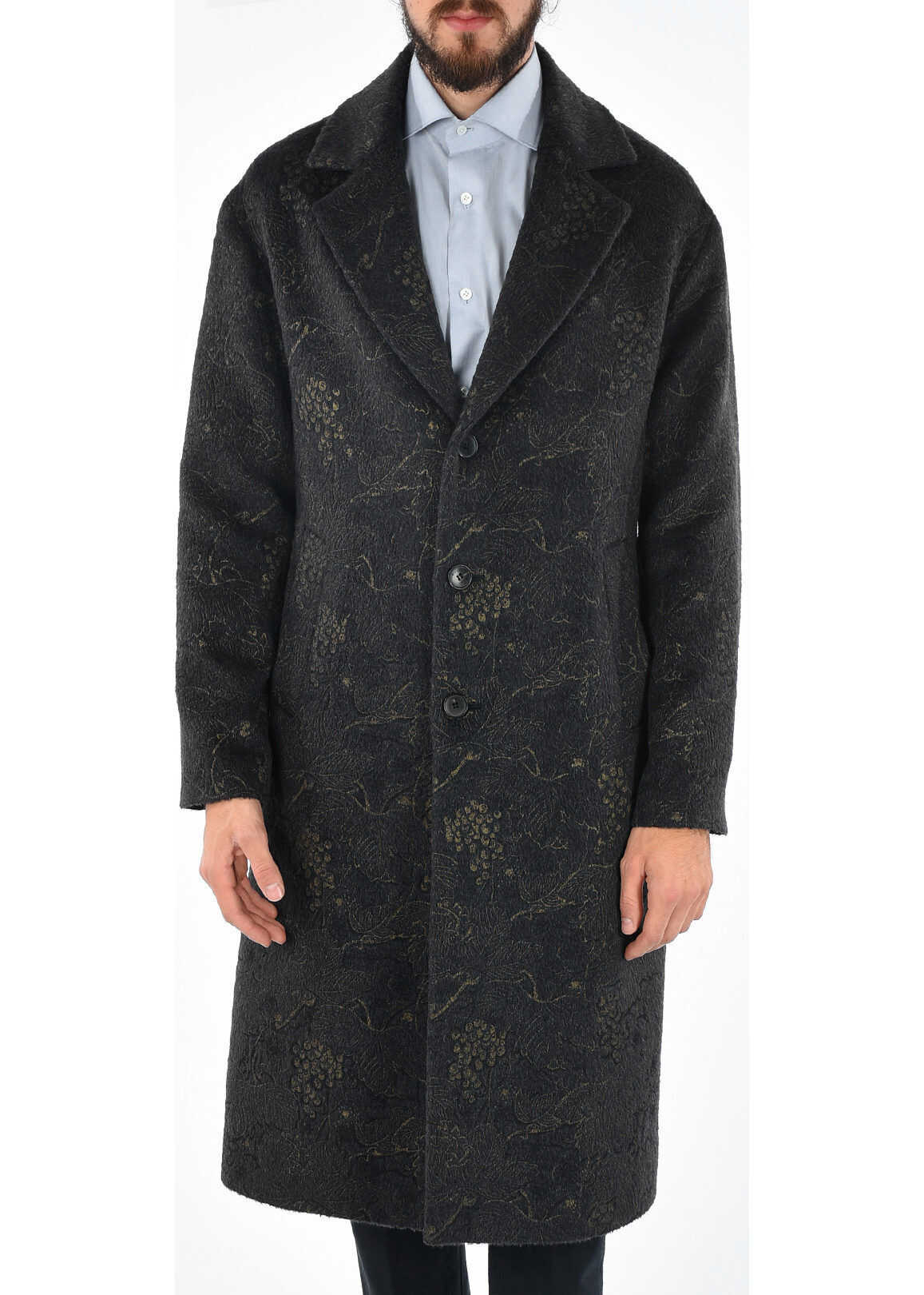 ETRO Brocade Coat BLUE