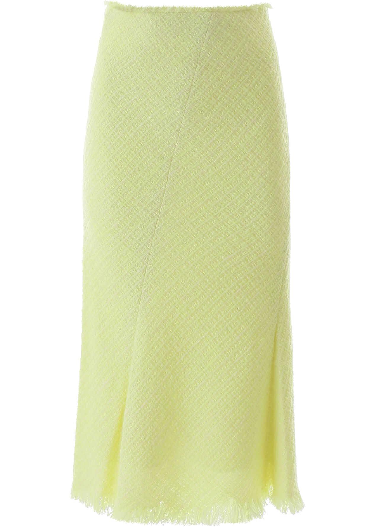 Alexander Wang Tweed Midi Skirt HIGHLIGHTER