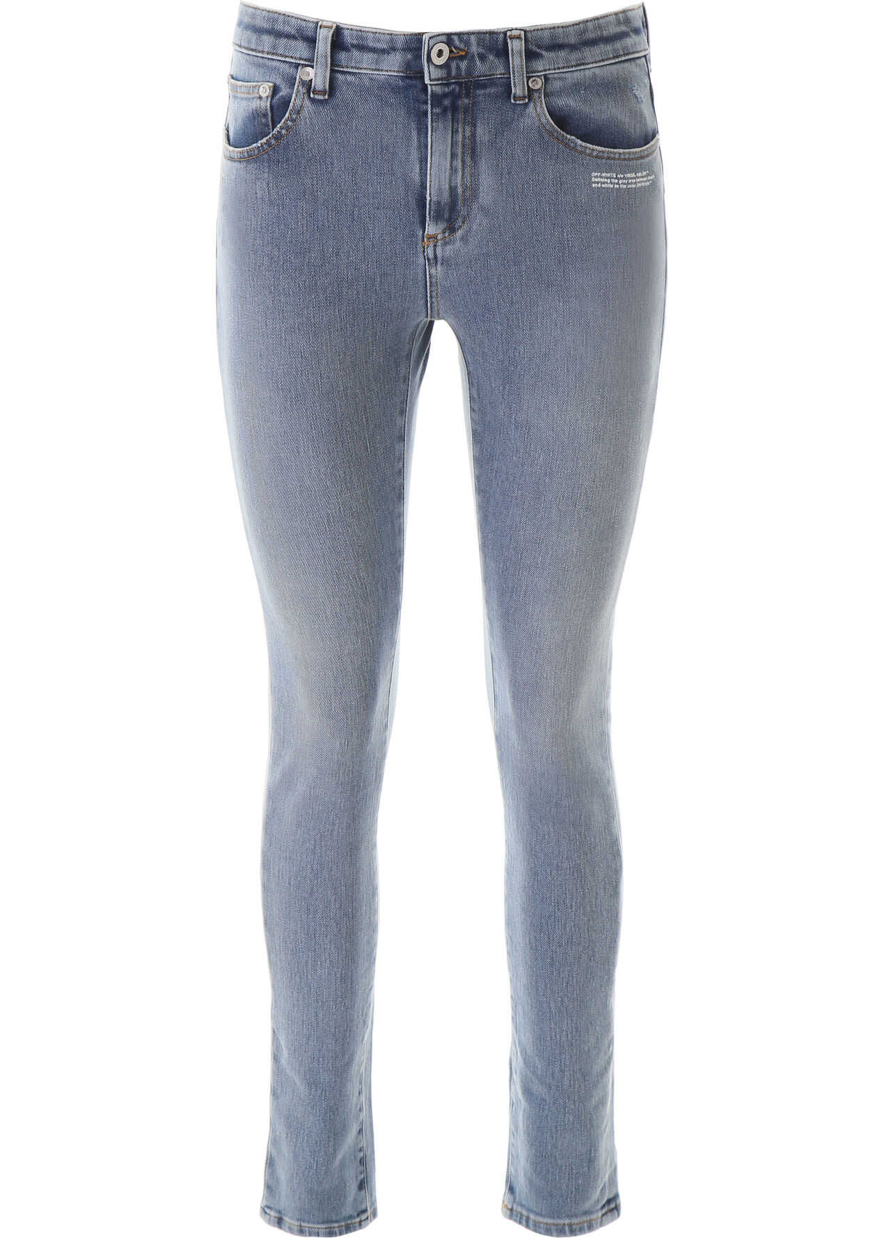 Bleached Jeans With Scarf thumbnail