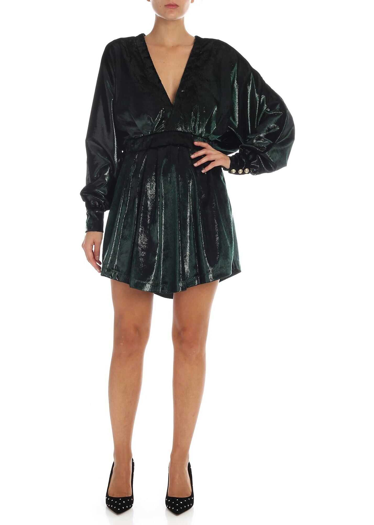Dark Green Lamé Dress thumbnail
