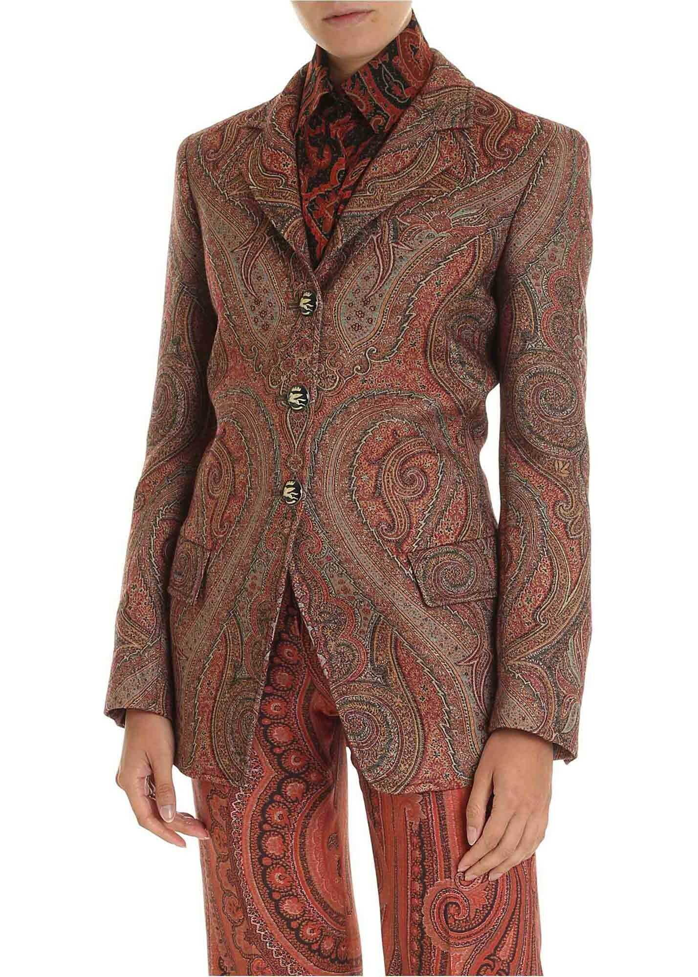 ETRO Jacket In Shades Of Brown With Arabesque Pattern thumbnail