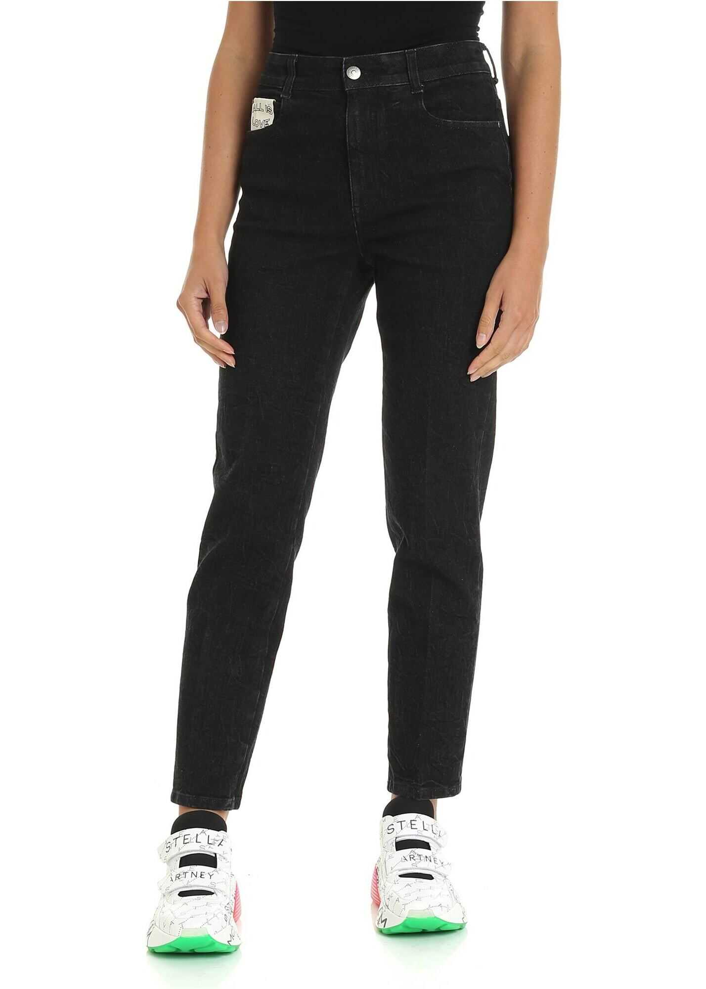 Black Jeans With Logo Label thumbnail