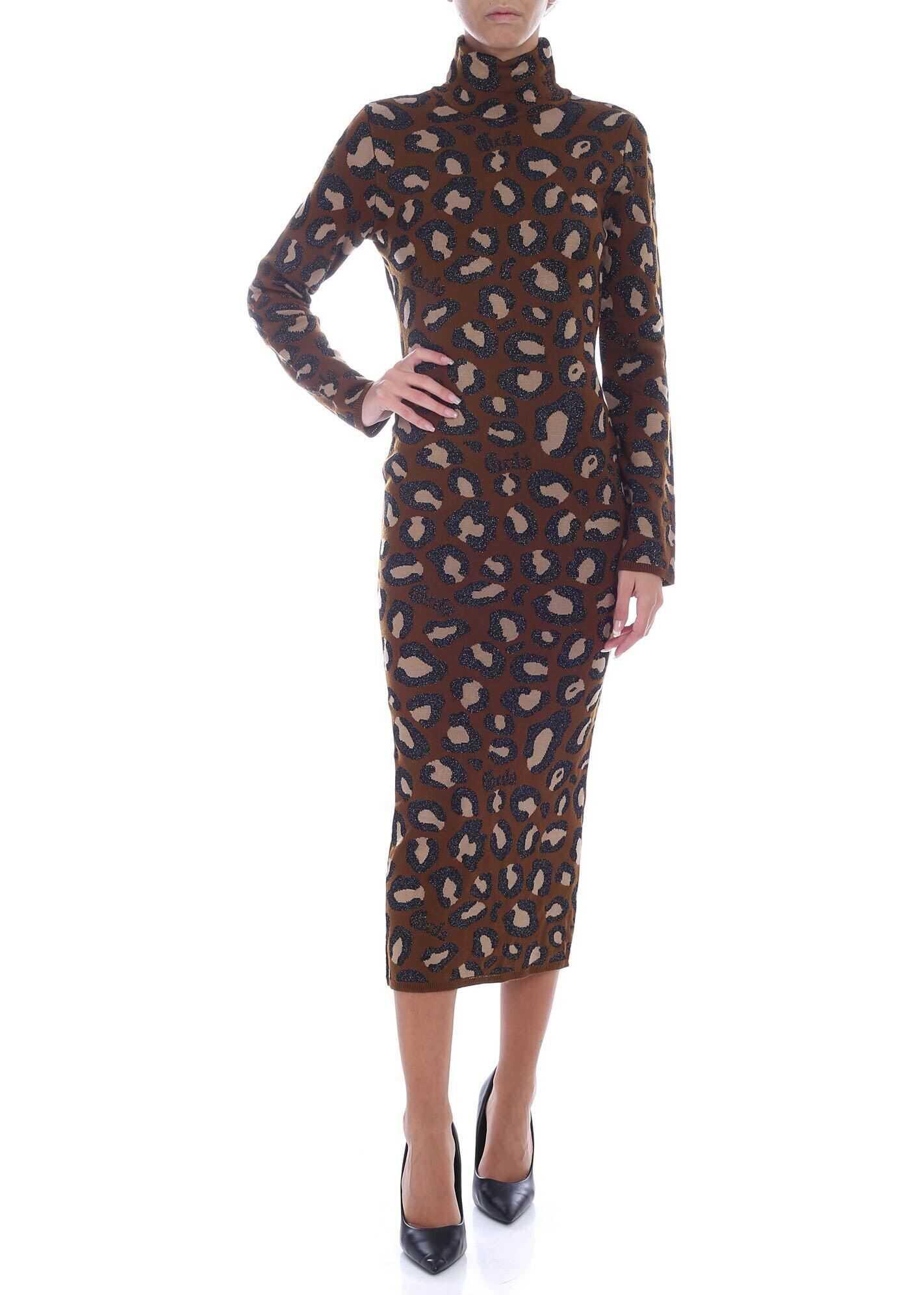 Animal Print Midi Dress