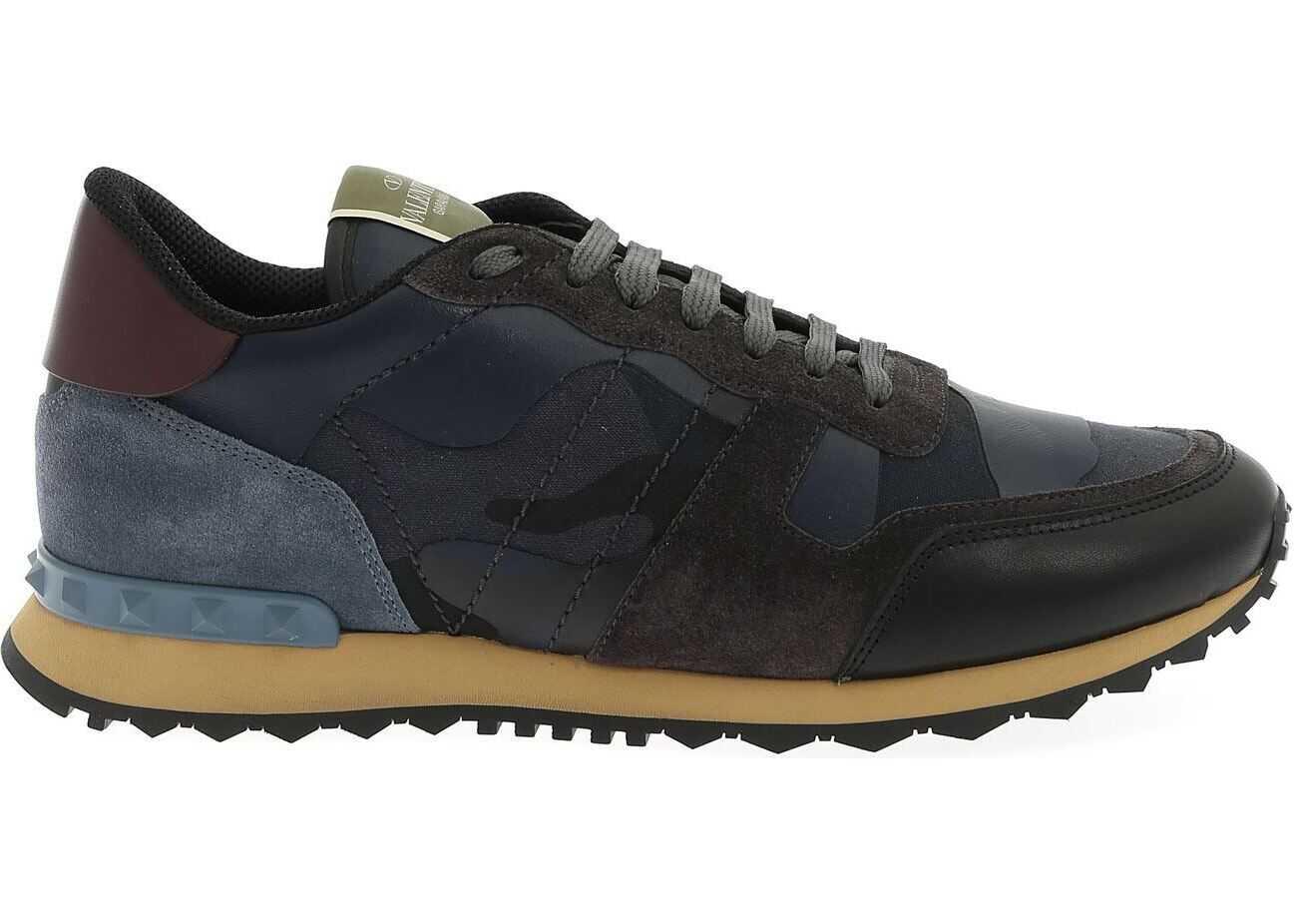 Valentino Garavani Rockrunner Sneakers Blue Camouflage Blue