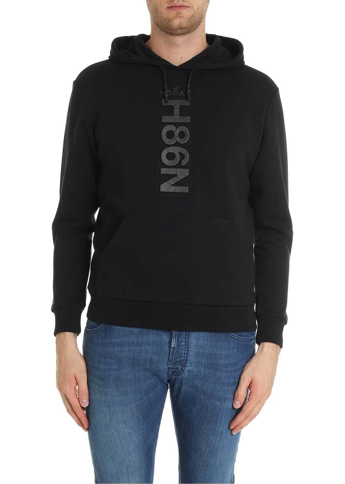 Black Sweatshirt With N98H Logo thumbnail