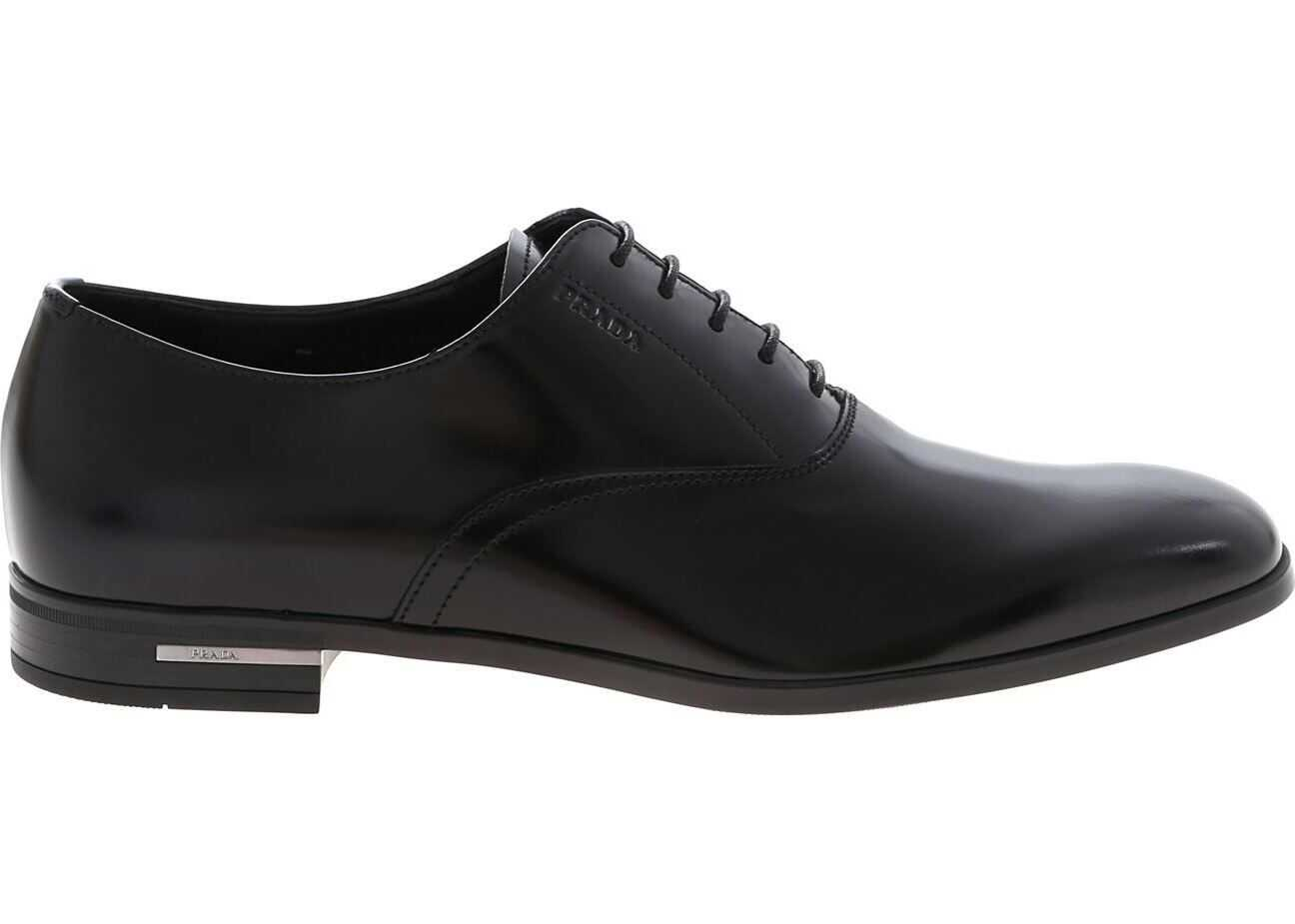 Black Oxford In Brushed Leather thumbnail