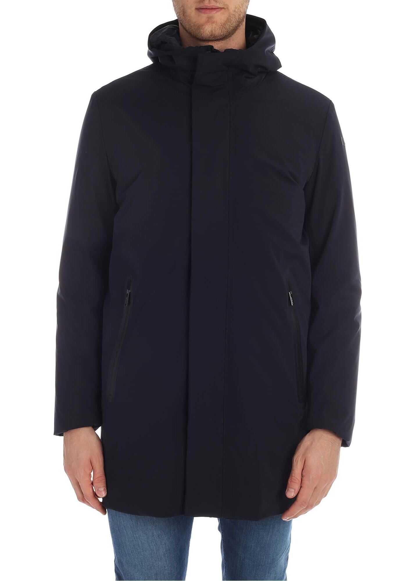 RRD Roberto Ricci Designs Rain Parka In Dark Blue Color Blue