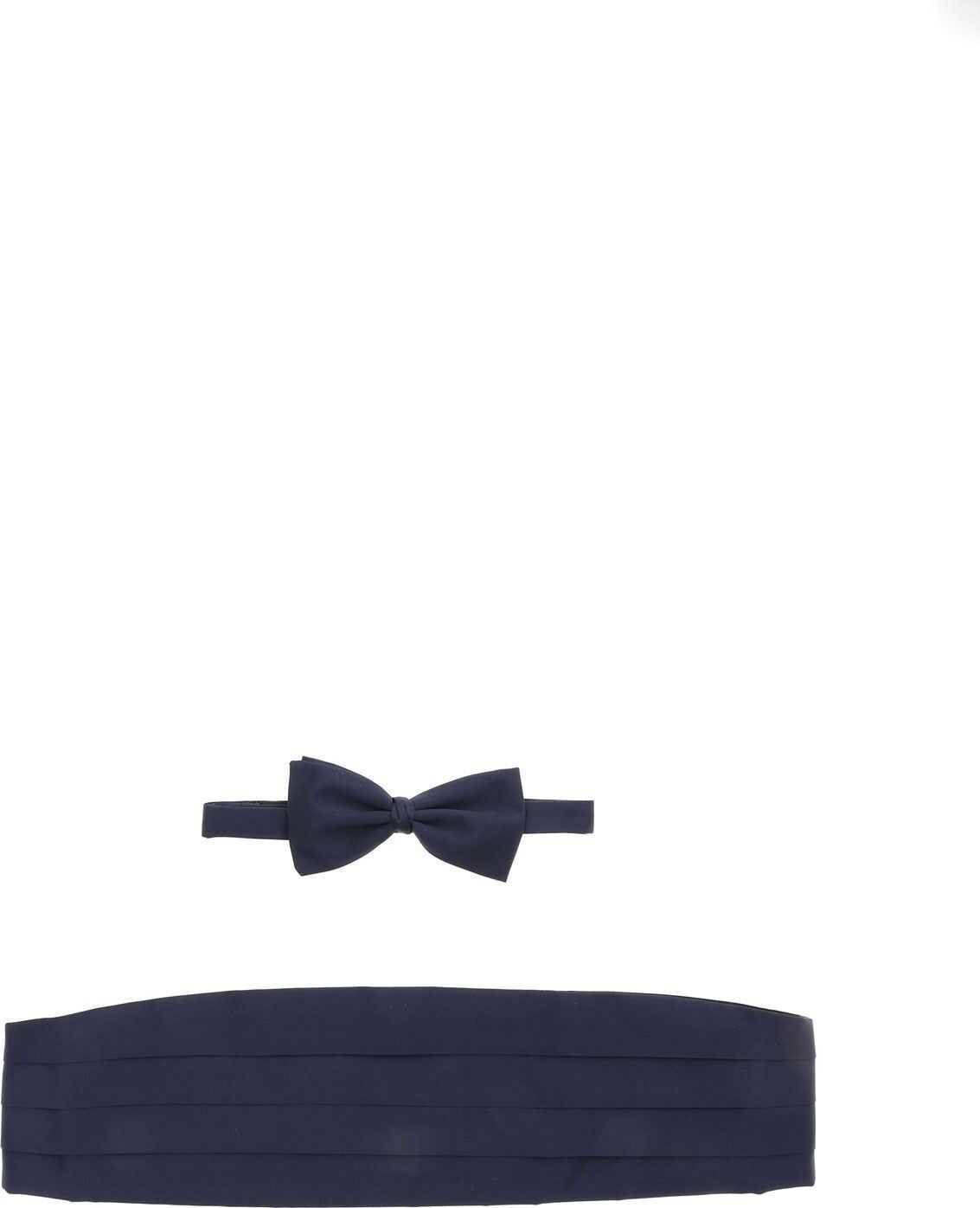 Ermenegildo Zegna Kit Tuxedo Belt And Blue Bow Tie Blue