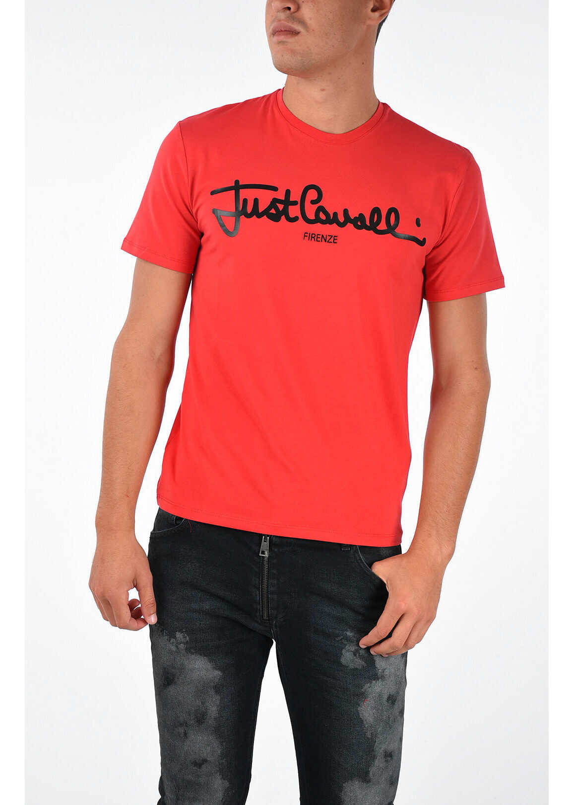 Just Cavalli Printed T-shirt RED