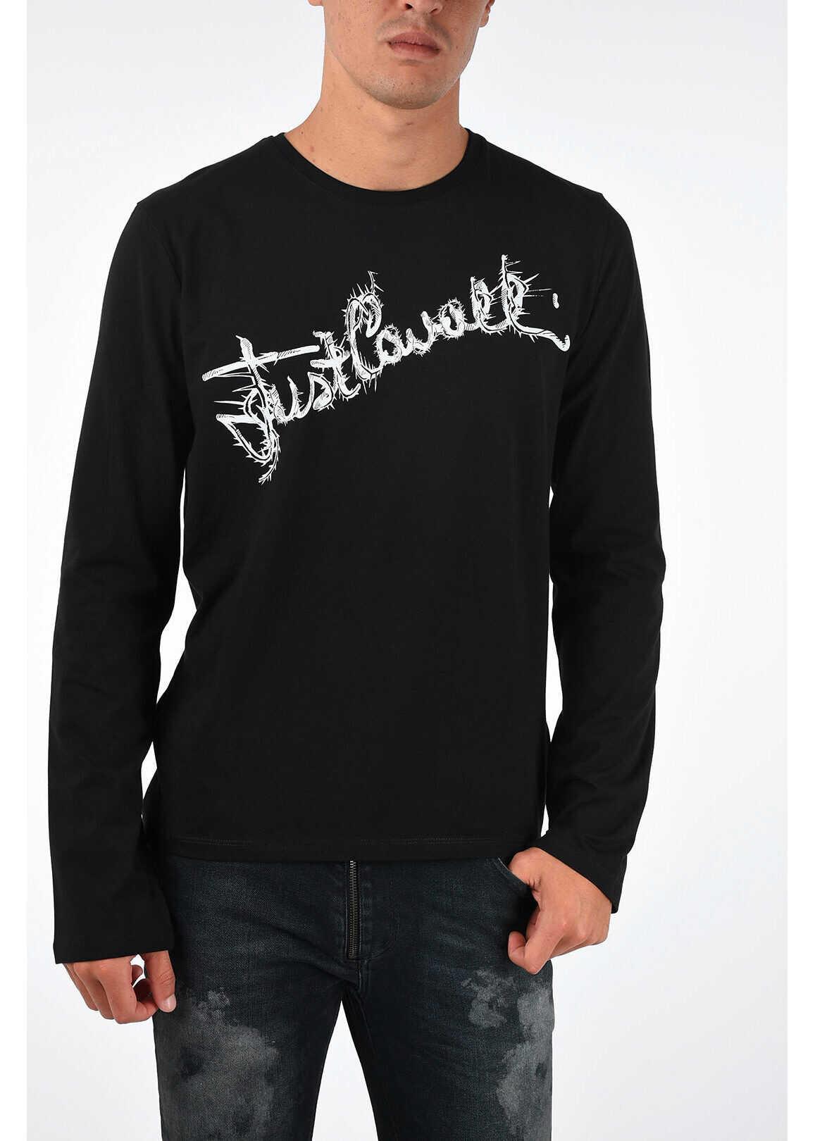 Just Cavalli Printed T-shirt BLACK