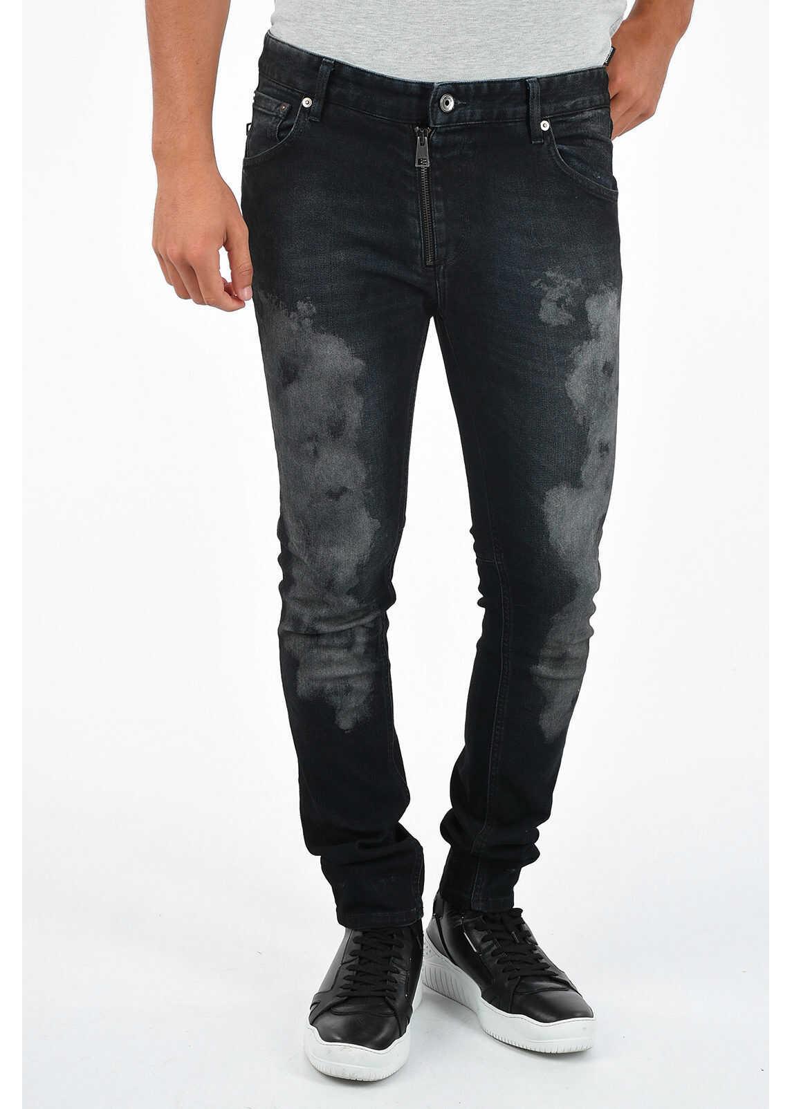 15cm Stretch Denim Printed Jeans thumbnail