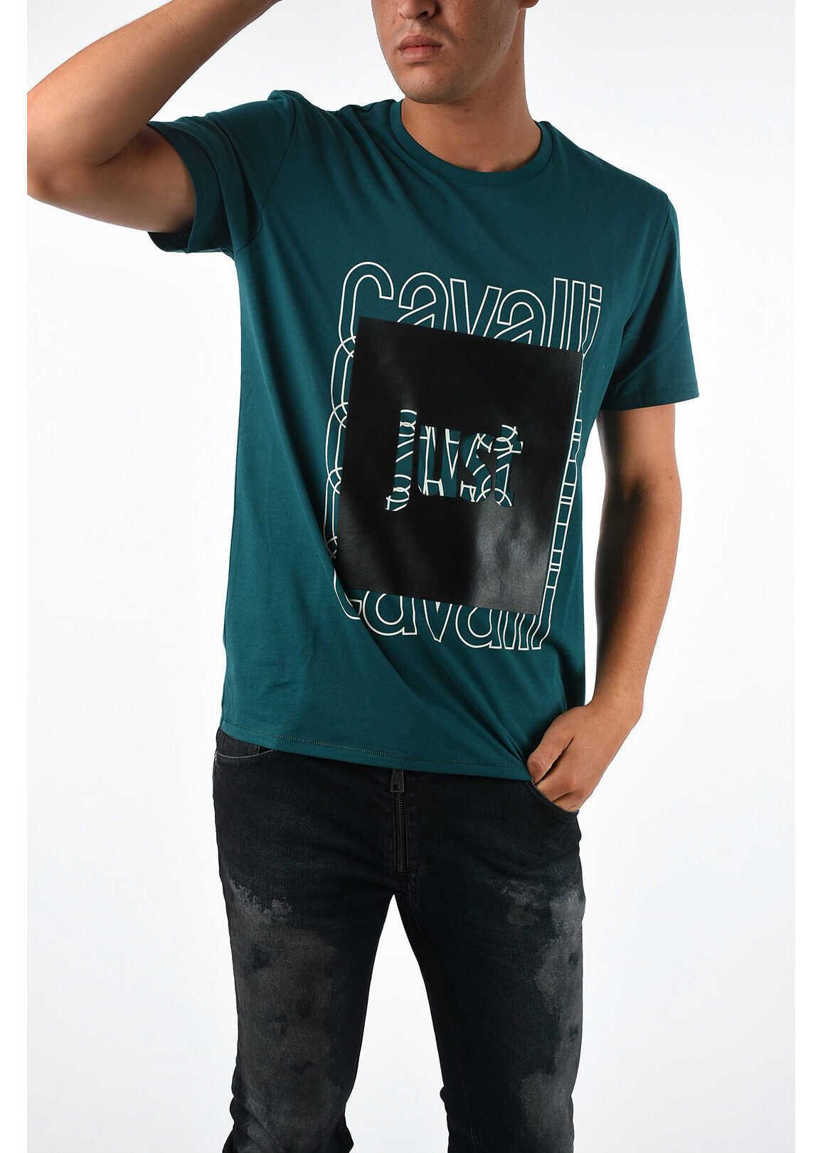 Just Cavalli Printed T-shirt GREEN