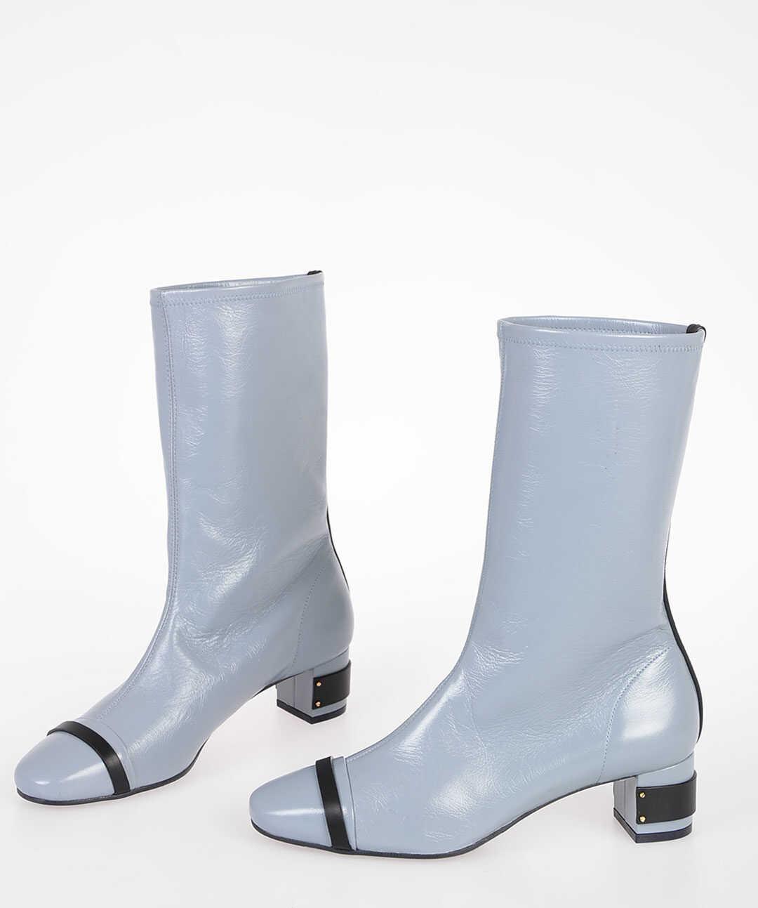 Stuart Weitzman 5cm Leather BECKETT Boots GRAY