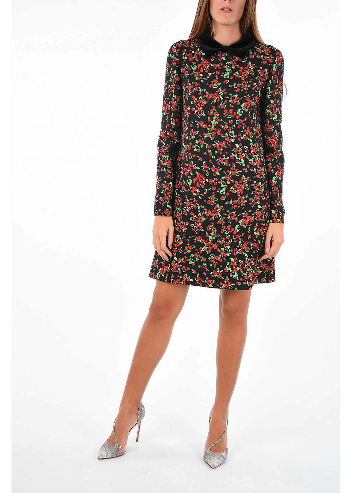 long sleeve floral-print shift Dress thumbnail