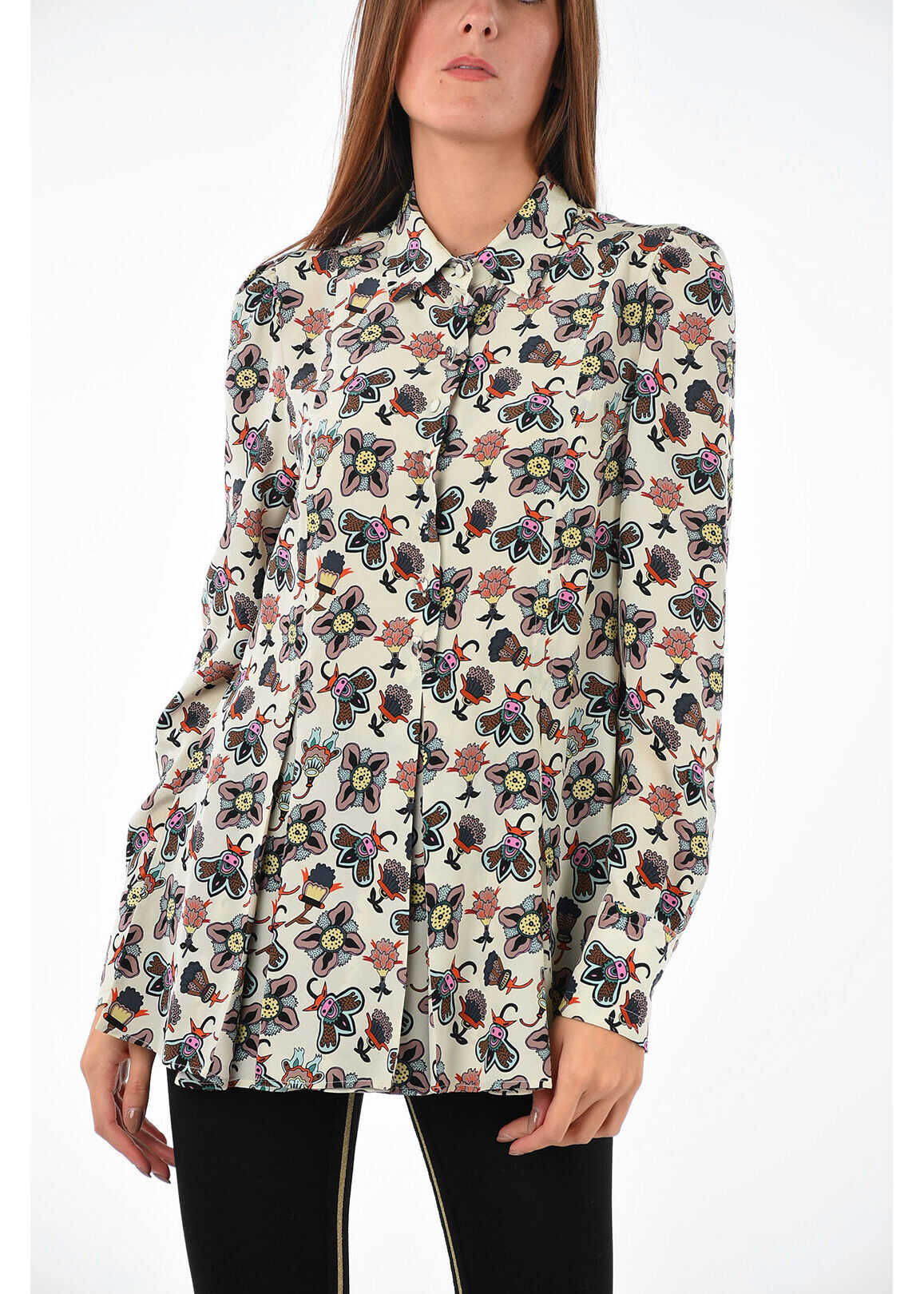 floral-print silk blouse thumbnail