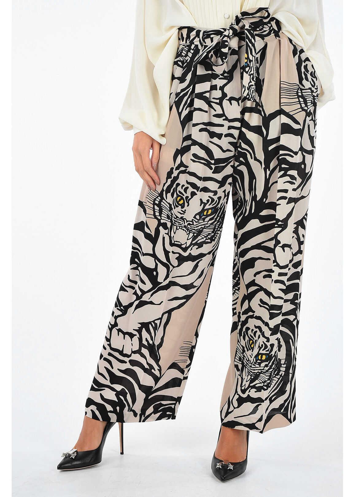 tiger-print palazzo pants thumbnail