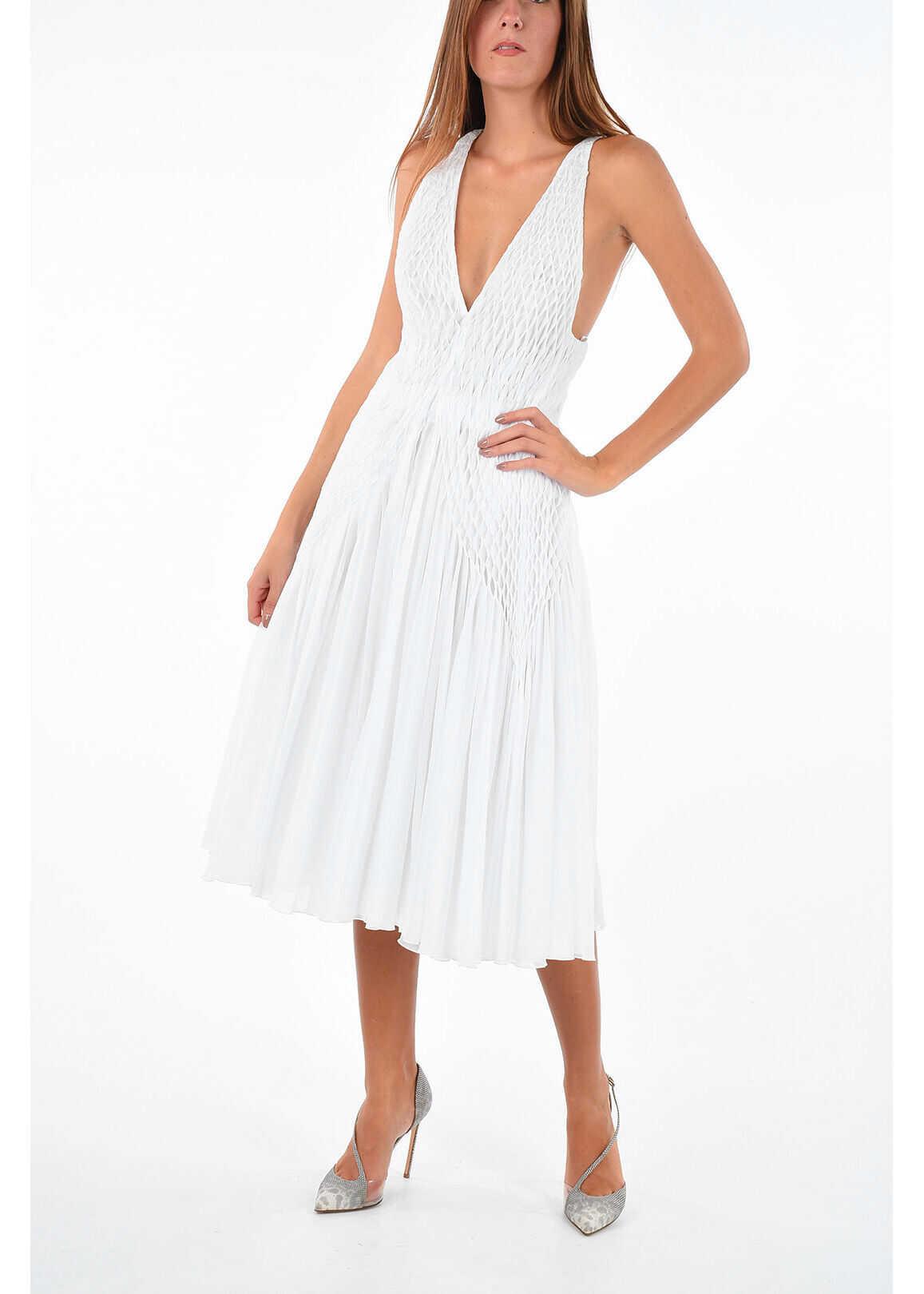 Ermanno Scervino Dress with Plissè WHITE