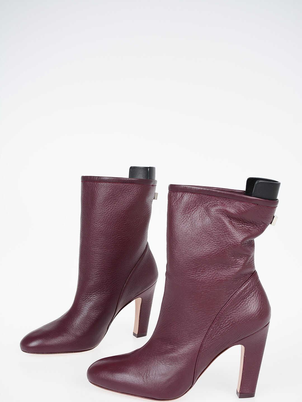 Stuart Weitzman 10cm Leather BROOKS Ankle Boots VIOLET