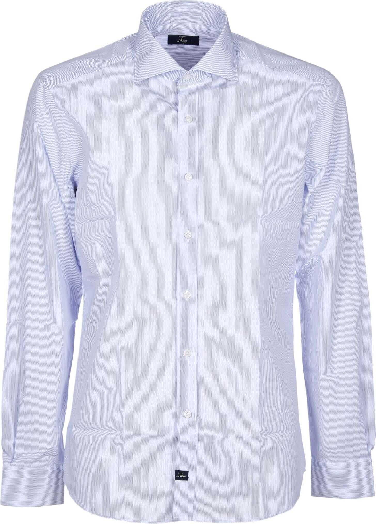 Fay Cotton Shirt LIGHT BLUE