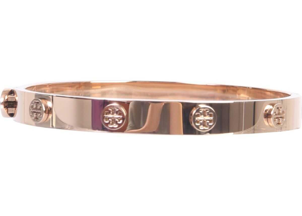Tory Burch Logo Stud Hinge Bracelet PINK