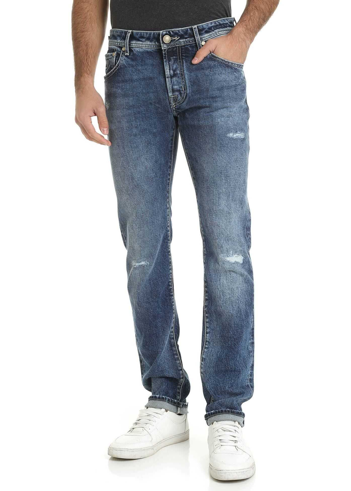 Premium Edition Denim Jeans In Blue thumbnail