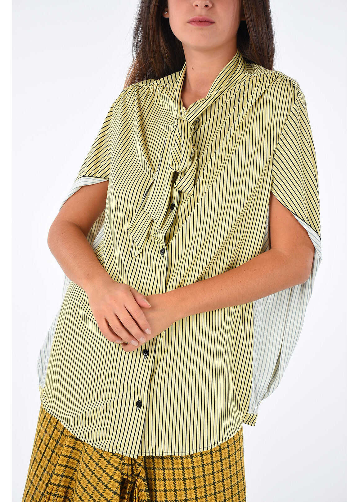 Stripped Printed Blouse