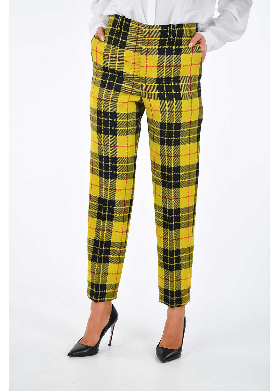 Virgin Wool Checked Pants thumbnail