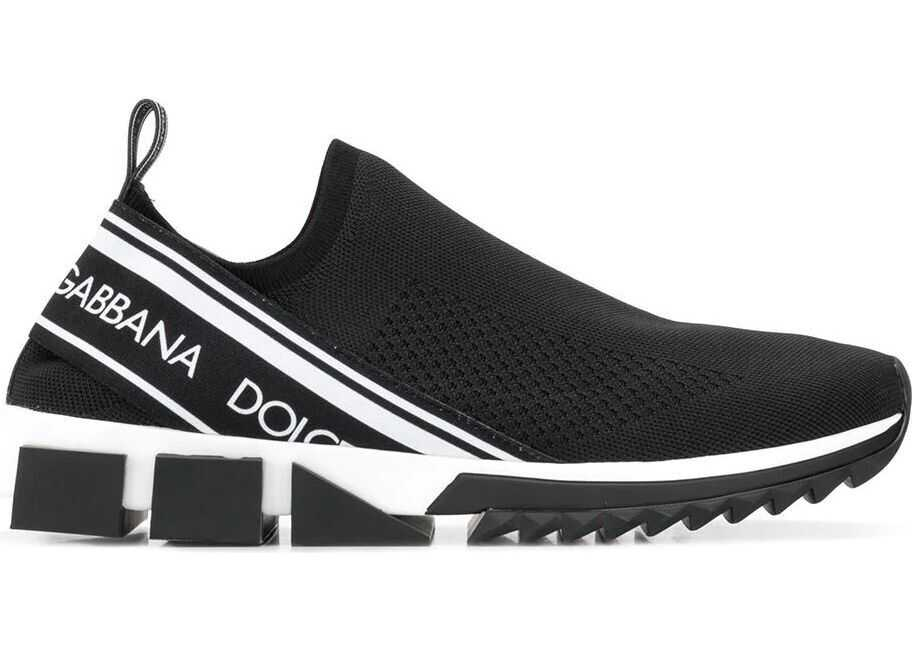 Dolce & Gabbana Synthetic Fibers Slip On Sneakers BLACK