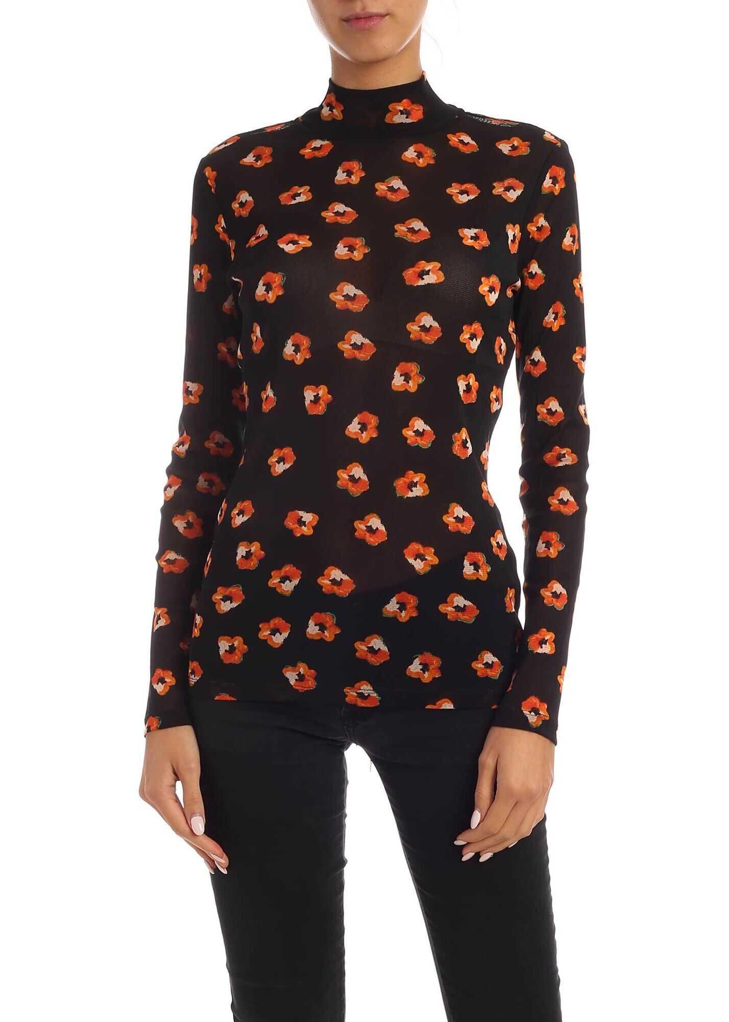 Diane von Furstenberg Remy Printed T-Shirt In Black Black