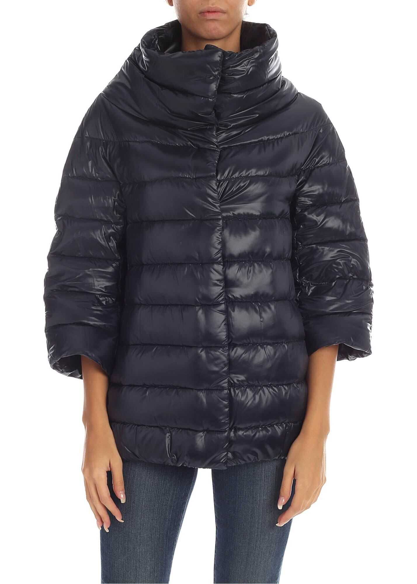 Herno Aminta Iconic Down Jacket In Blue Blue