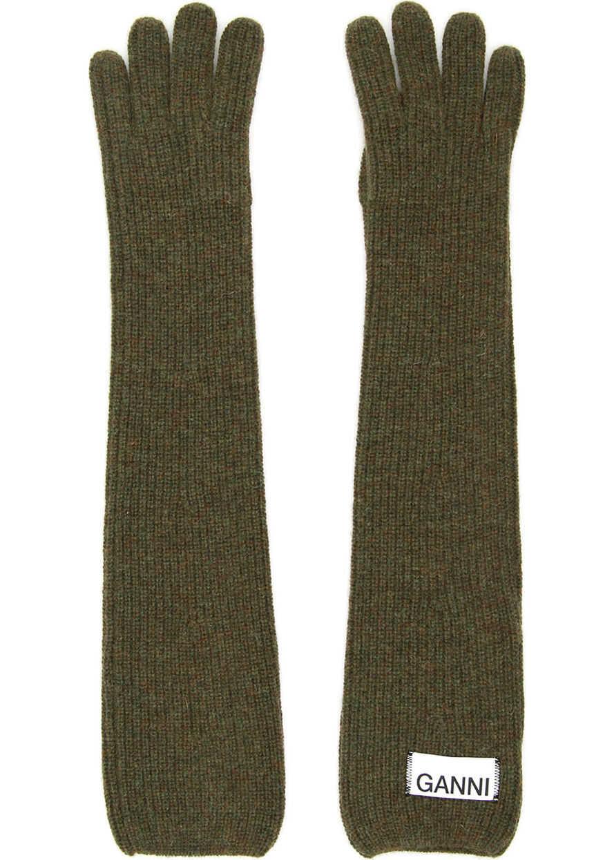 Ganni Long Knit Gloves KALAMATA