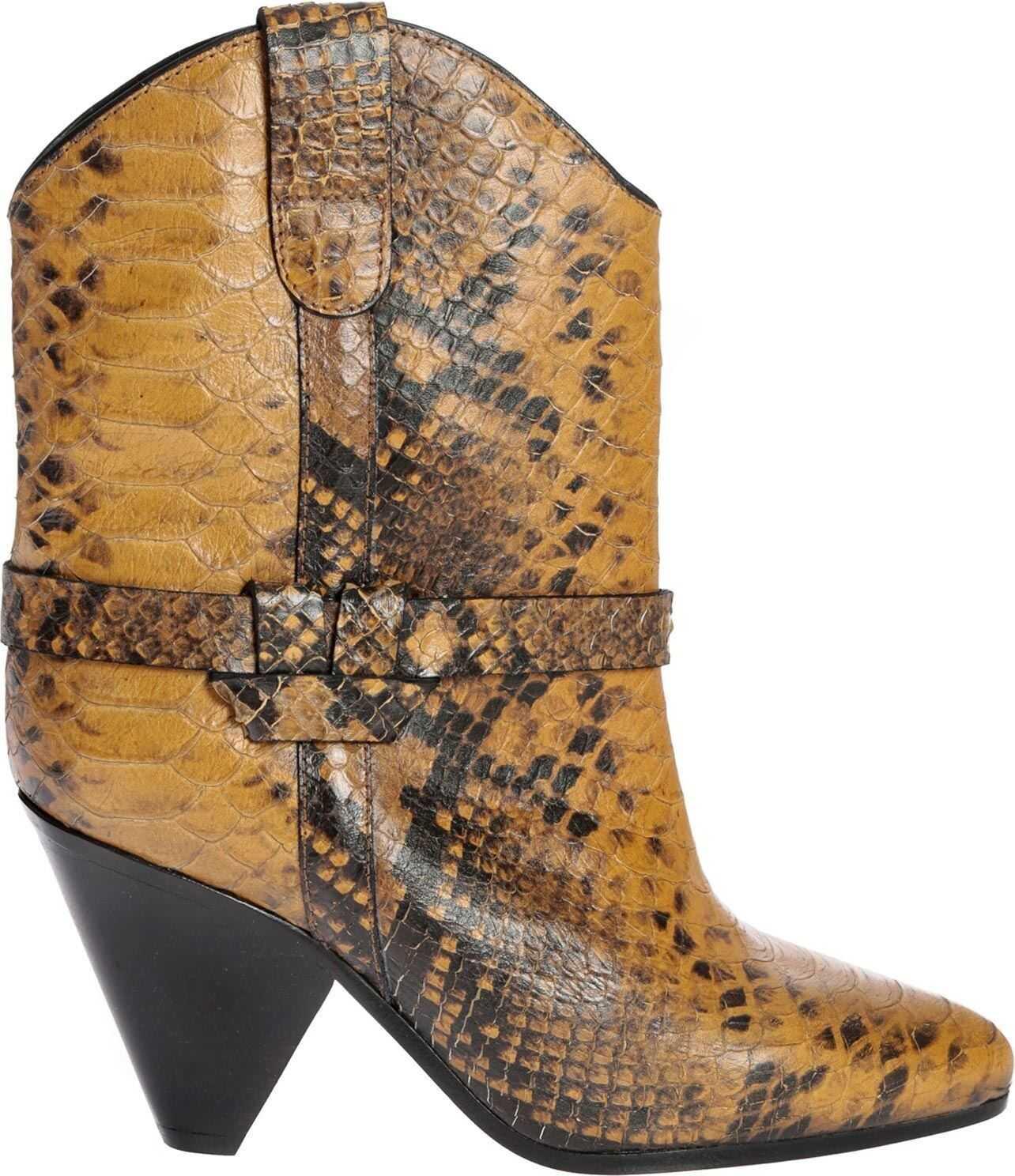 Isabel Marant Deane Animal Printed Ankle Boots Animal print