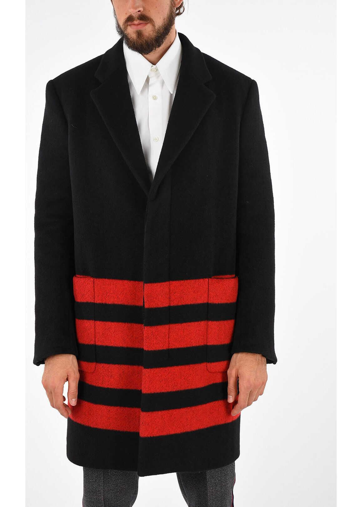 Calvin Klein 205W39NYC Wool Coat BLACK