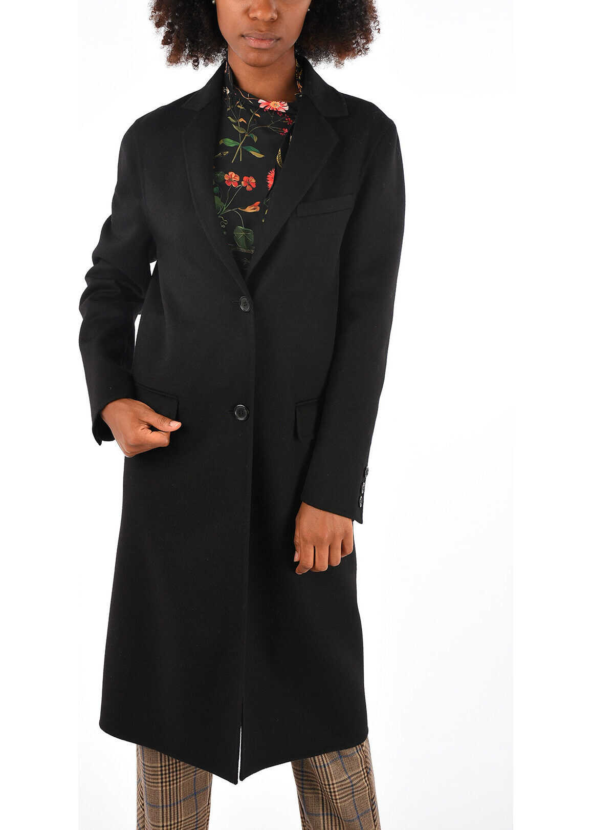 Virgin Wool and Cashmere Embroidered Coat