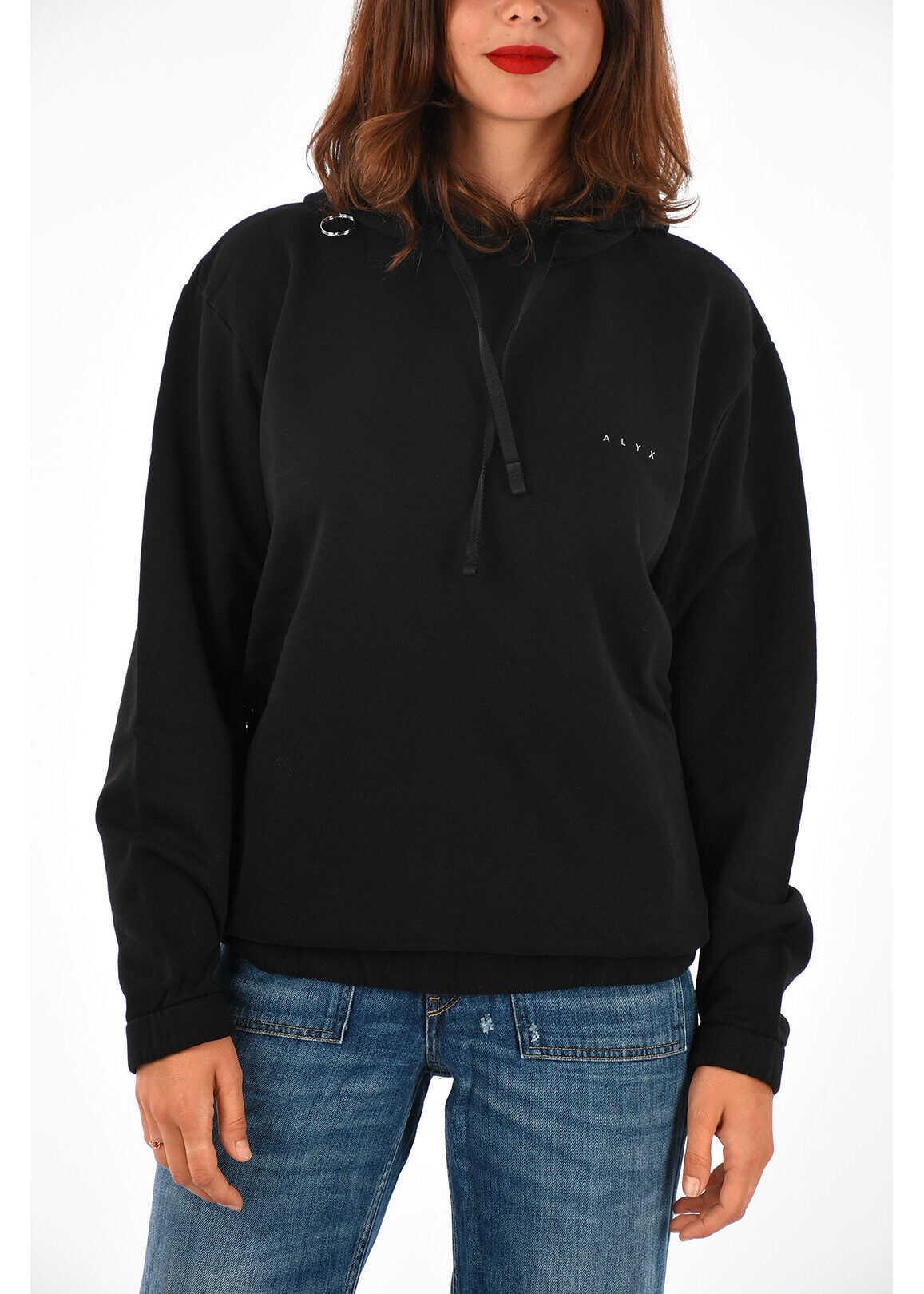 Alyx Hoodie Sweatshirt BLACK