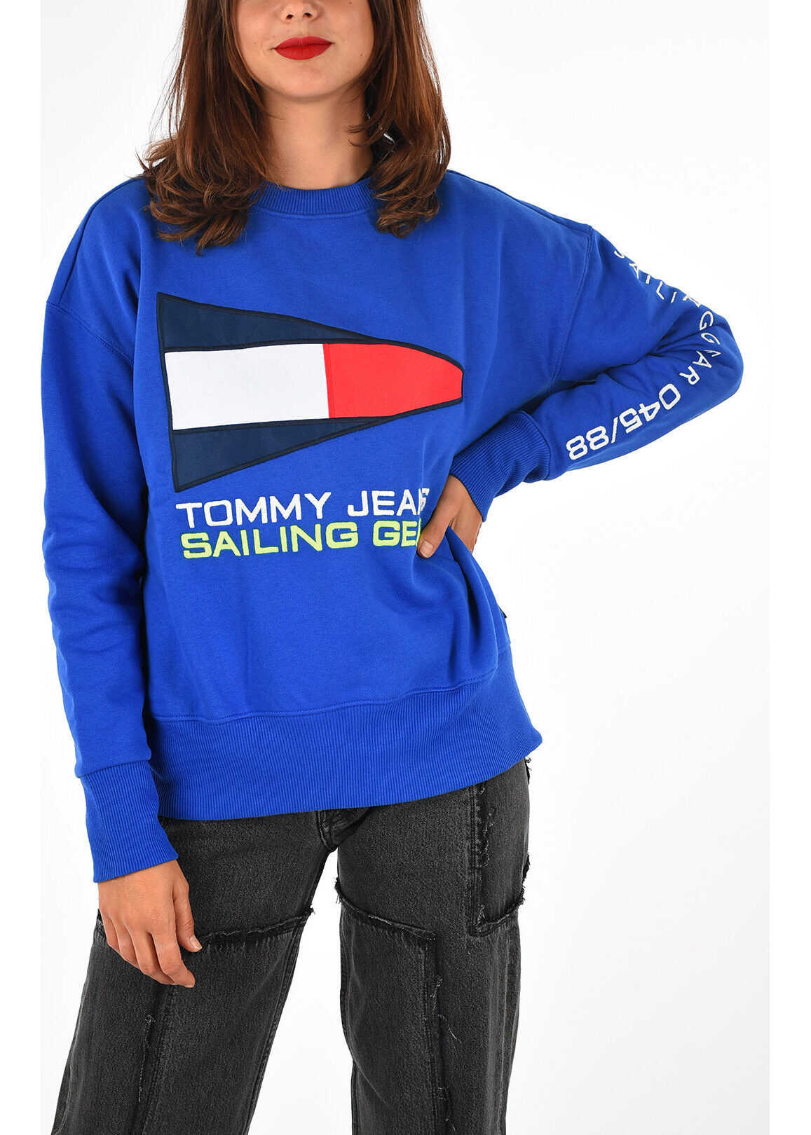 Tommy Hilfiger JEANS Embroidered Sweatshirt BLUE