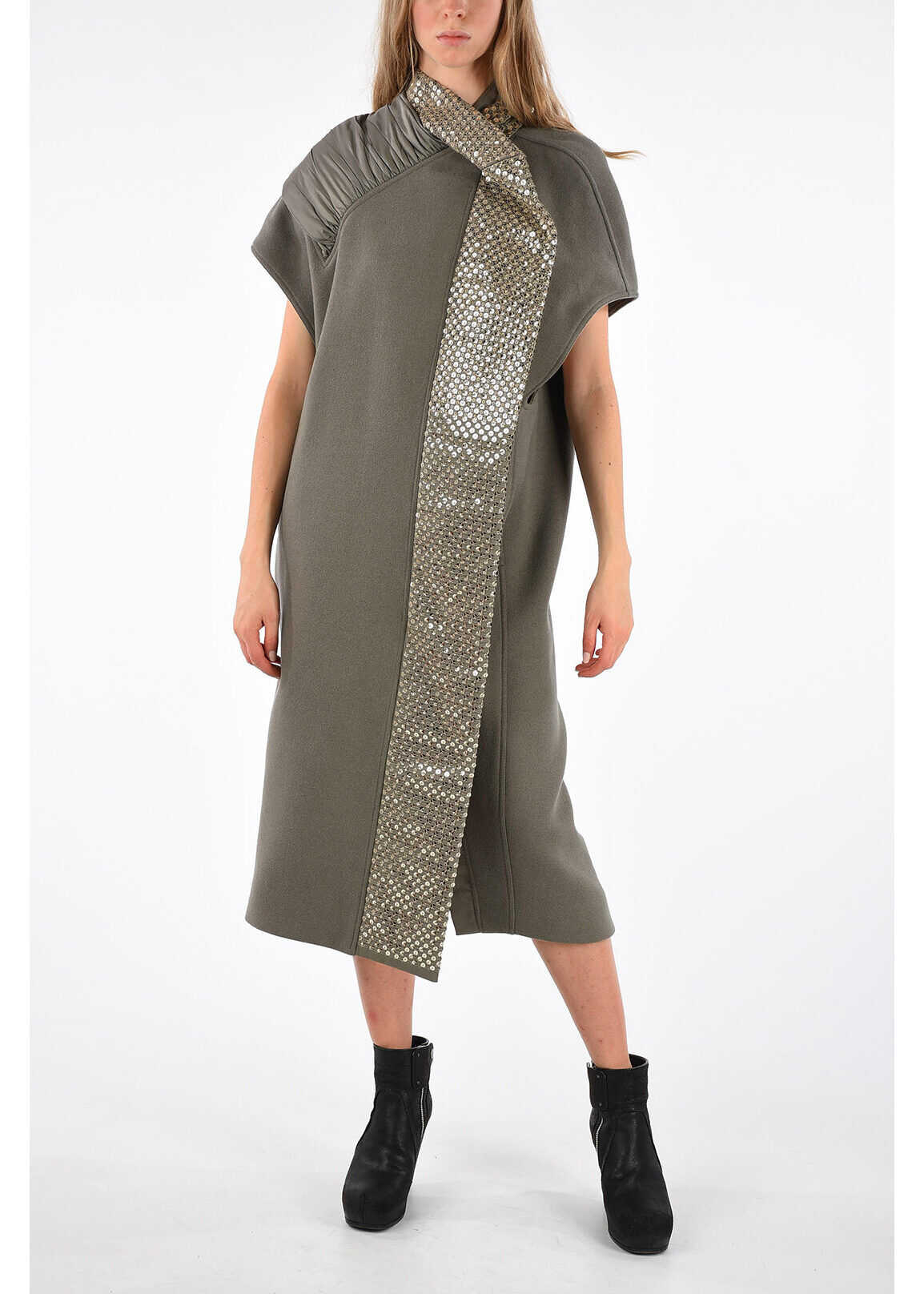 Sleeveless Coat DRKDST/WARM SILVER