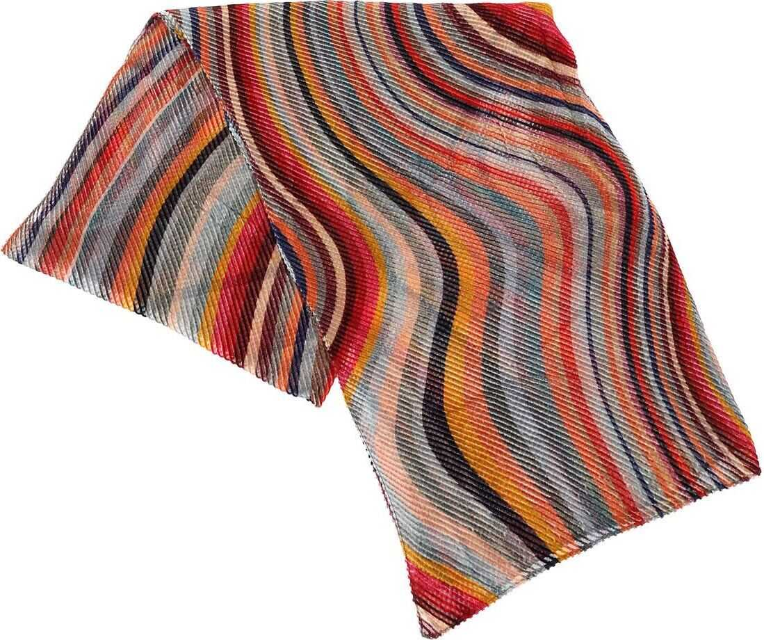 Paul Smith Scarf With Multicolor Embossed Knitting Multi