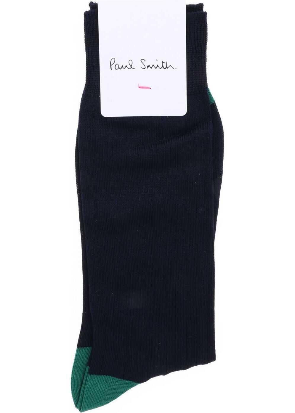 Merc Plain Socks In Blue thumbnail