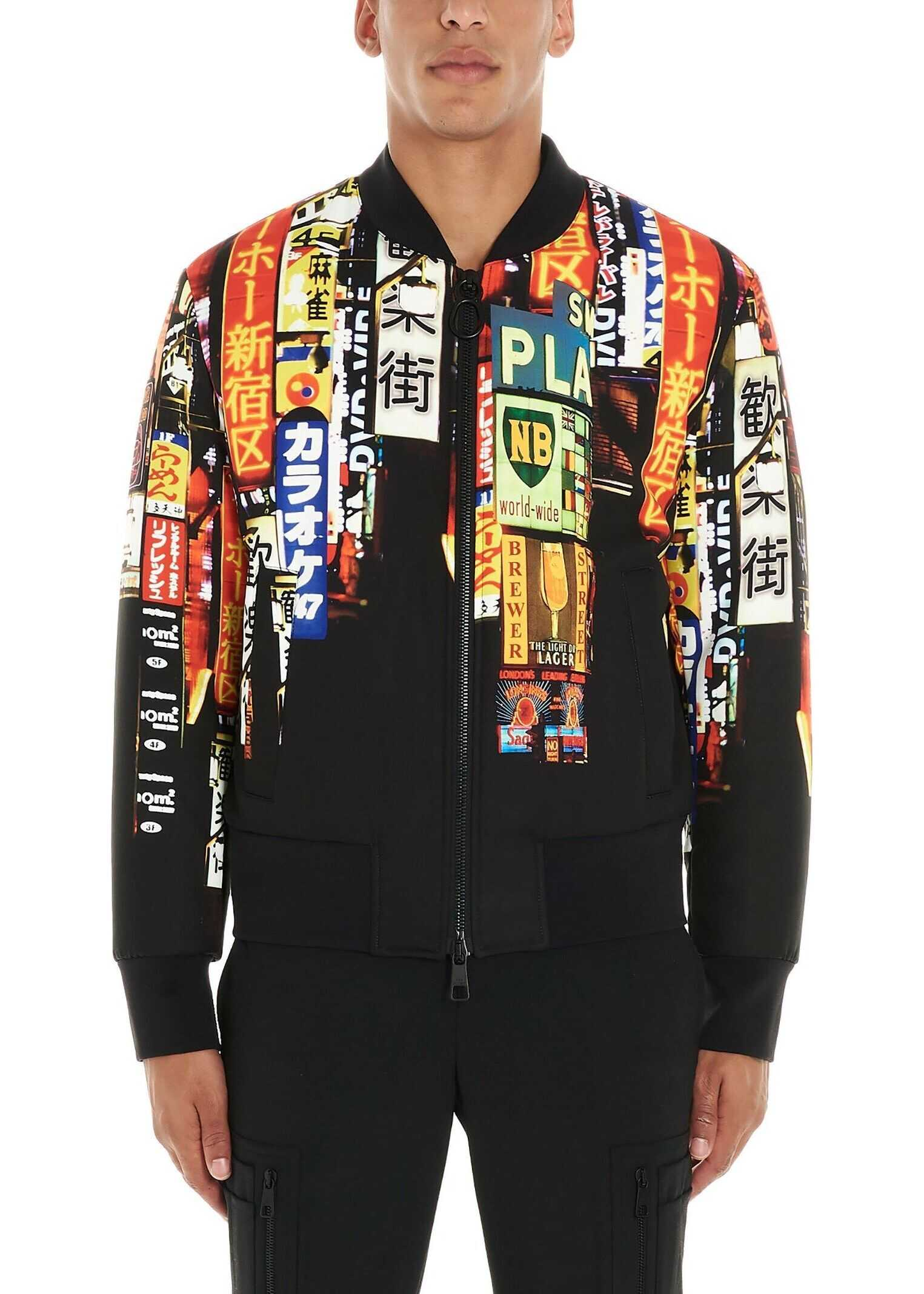 Neil Barrett Polyester Outerwear Jacket BLACK