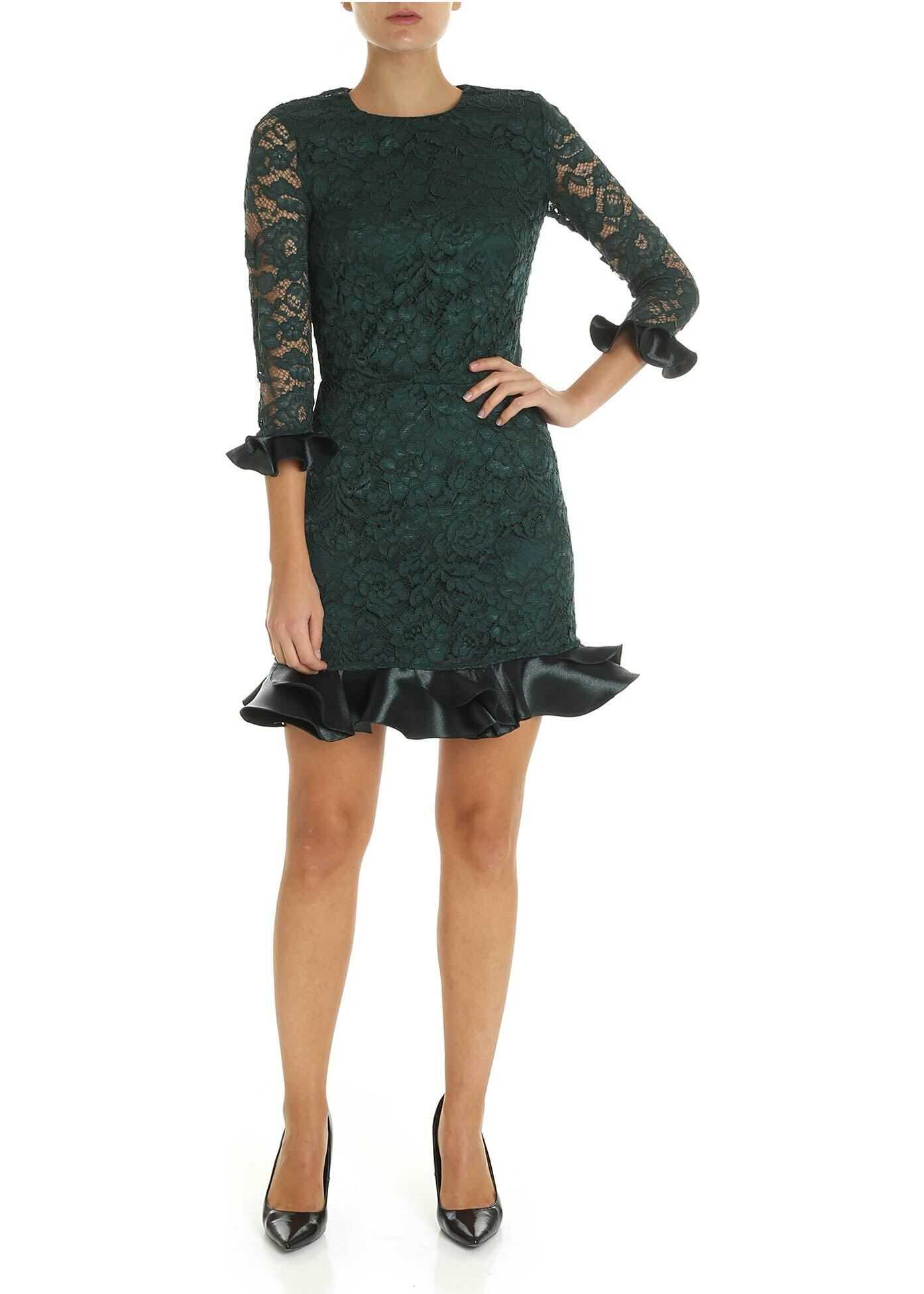 Dark Green Lace Dress thumbnail