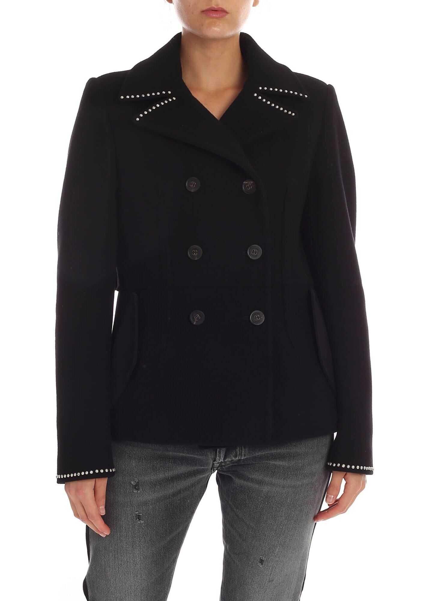 Shion Black Double-Breasted Jacket thumbnail