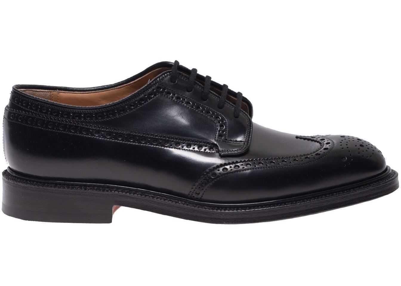 Grafton 173 Brogue Derby Shoes In Black thumbnail