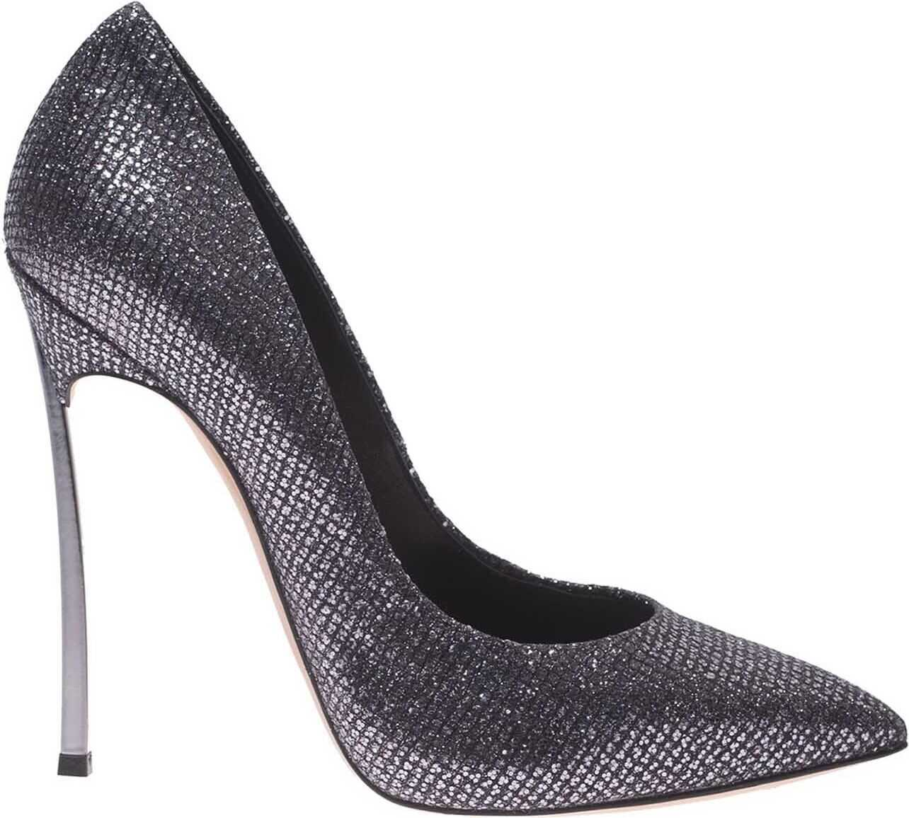 Casadei Pumps In Silver Gray With Blade Heel Silver