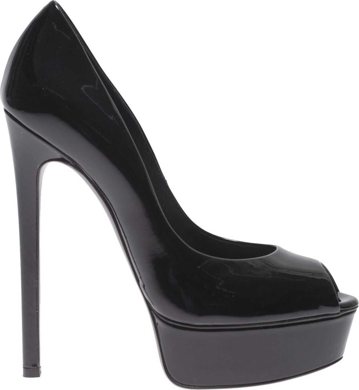 Casadei Opentoe Platform In Black Black