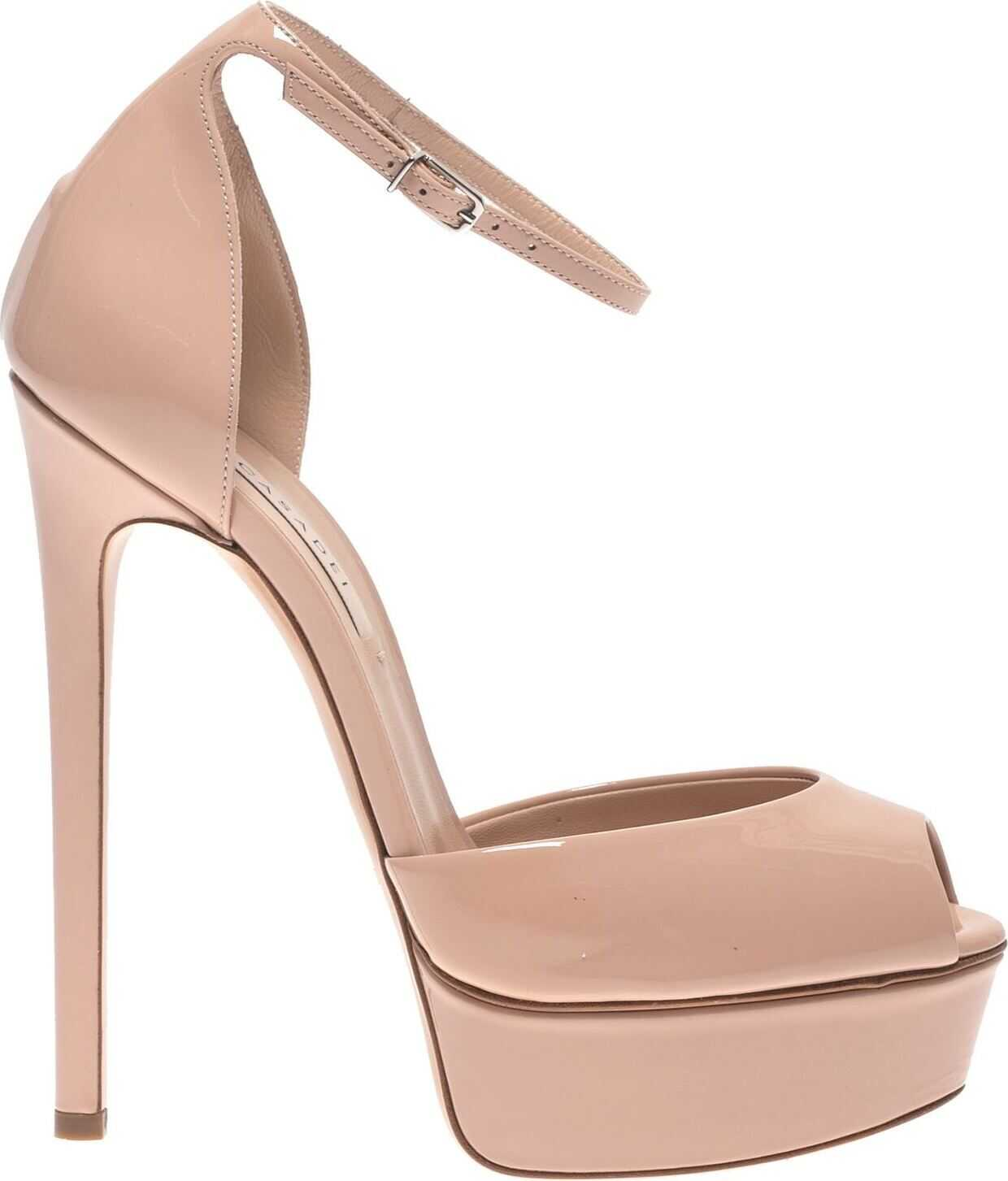 Casadei Ankle Strap Pumps In Powder Pink Pink