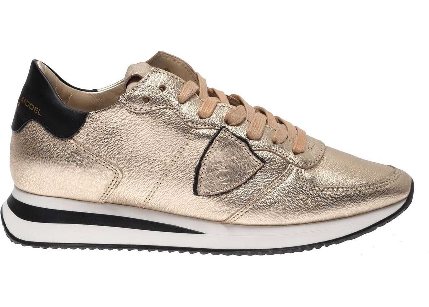 Philippe Model Trpx Sneakers In Gold Gold