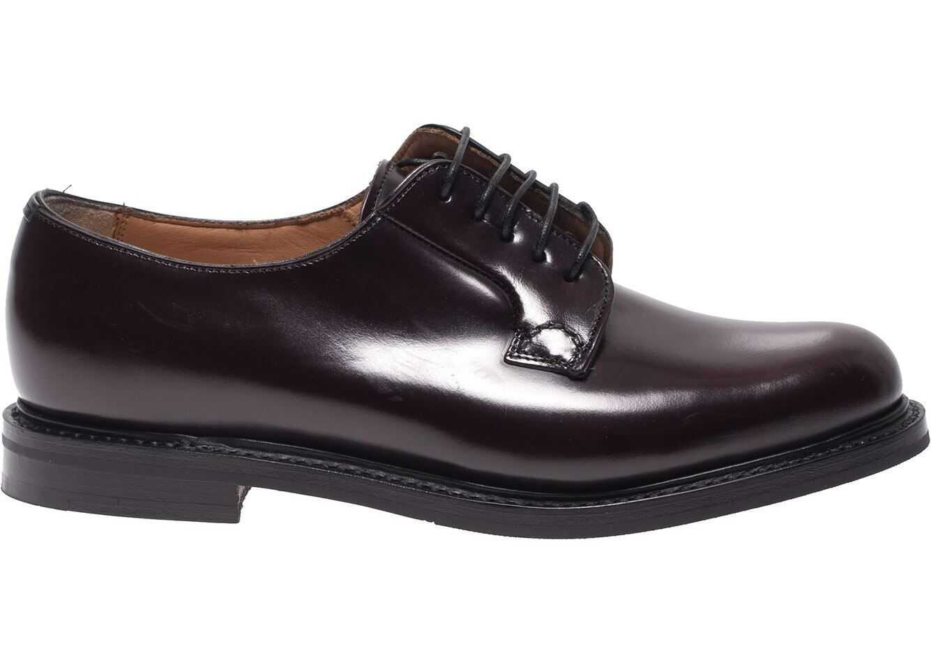Shannon 2 Derby Shoes In Burgundy thumbnail
