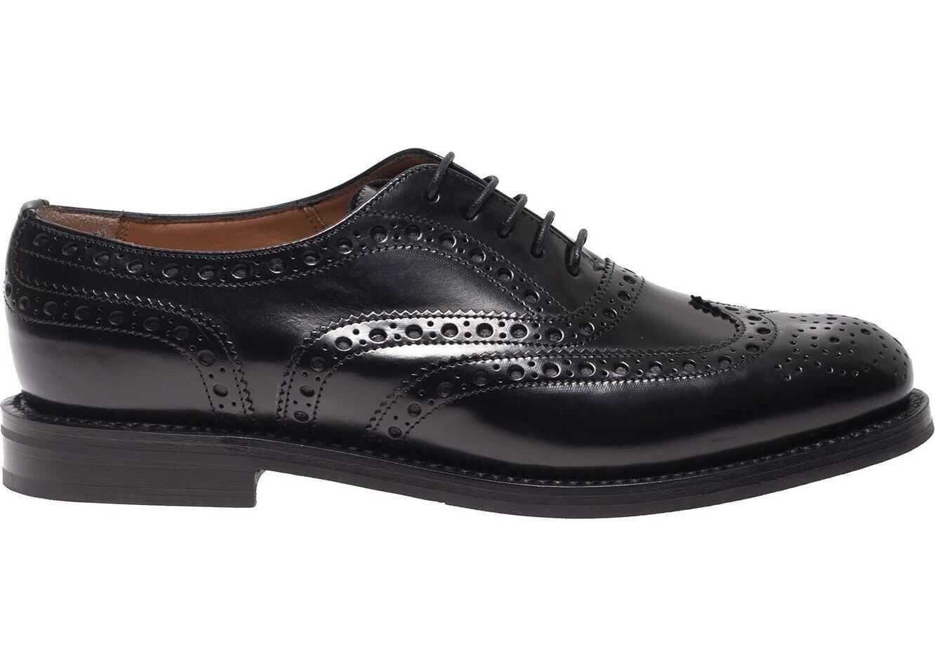 Burwood Wg Oxford Shoes In Black thumbnail