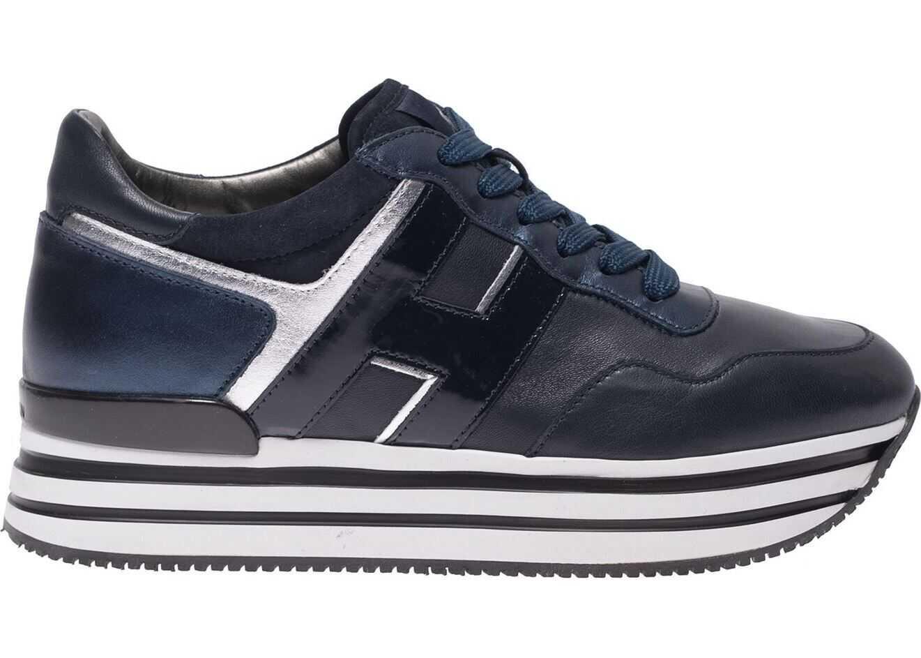 Hogan H483 Sneakers In Blue Blue